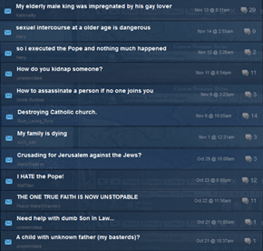Crusader Kings 2 Steam Forum is Fantastic Out of Context