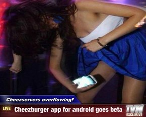 Cheezservers overflowing! -  Cheezburger app for android goes beta