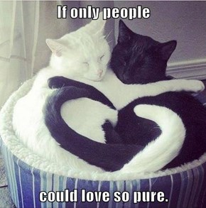 If only people  could love so pure.
