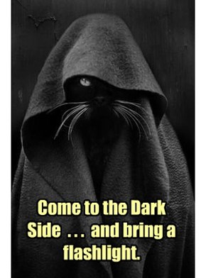 Come to the Dark Side  . . .  and bring a flashlight.
