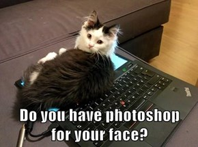 Do you have photoshop                   for your face?
