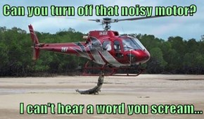 Can you turn off that noisy motor?  I can't hear a word you scream...