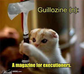 Change A Letter, Make A New Word- Guillozine