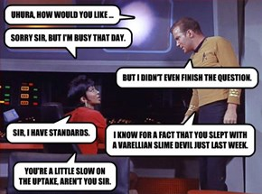 UHURA, HOW WOULD YOU LIKE ...