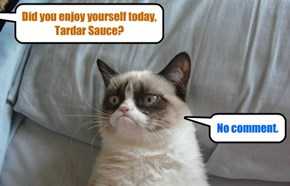 Even though she can't bring herself to say it, even Tardar Sauce enjoyed the Thanksgiving Day Feast at KKPS..