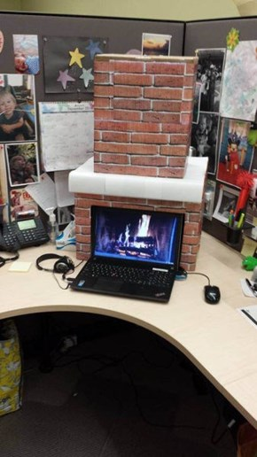 Make Your Cubicle a Little Cozier This Winter