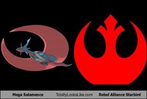 Mega Salamence Totally Looks Like Rebel Alliance Starbird
