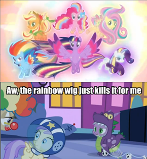 The Average Brony on Rainbow Ponies