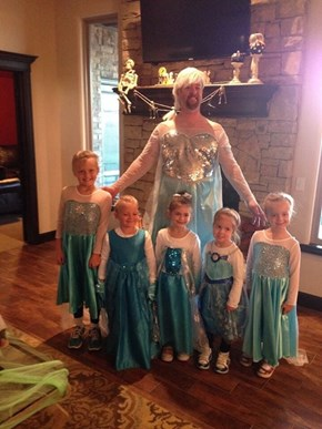 Everyone Dressed as Elsa Last Halloween