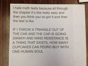 The Problem WIth Math Tests