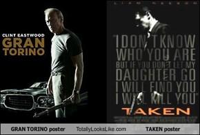 GRAN TORINO poster Totally Looks Like TAKEN poster