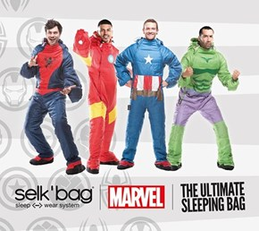 You Can Fall Asleep in the Superhero Sleeping Bag of Your Choosing!