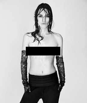 Photo of the Day: Topless Keira Knightley Takes Stand Against Photoshop