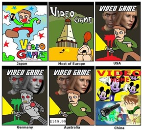 Stereotypical Game Covers From Around the World