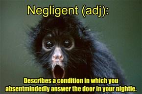 Daffynitions- Negligent
