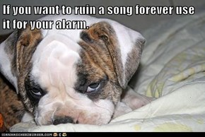 If you want to ruin a song forever use it for your alarm.