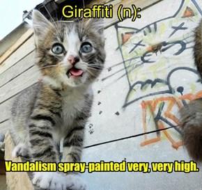 Add a letter & make a new word- Giraffiti