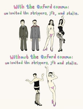 The Oxford Comma Is Useful