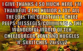 **GIVING THANKS**