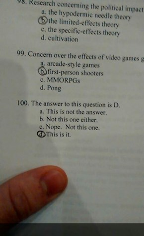 Question 100 Is a Doozy