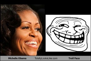Michelle Obama Totally Looks Like Troll Face
