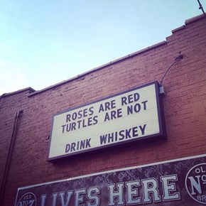 Whiskey Helps You Rhyme