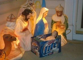 """Dude, You Totally Could Have Gotten Natty Light and Made It the """"Natt-ivity"""""""