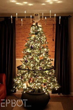 Make Your Holidays Magical With a Harry Potter Themed Christmas Tree