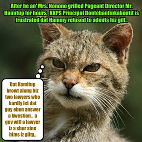Teh Great Nip Scandal continues to go unresolved.. KKPS Principal Dontebanfinkaboutit must find a way to get to teh bottom of dis skandal..