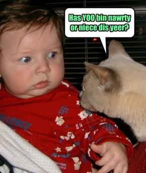 Has YOO bin nawrty or niece dis yeer?