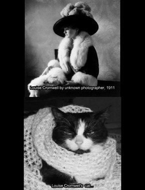 Louise Cromwell and Cat