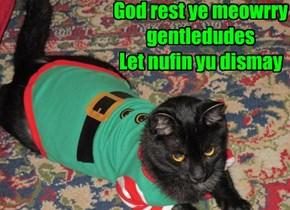 God rest ye meowrry gentledudes Let nufin yu dismay