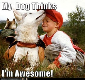 My  Dog Thinks  I'm Awesome!