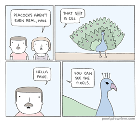 How Fake Are Peacocks?