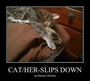 CAT/HER-SLIPS DOWN