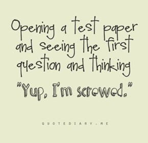 sometimes true but i only have one test really and im screwed DX