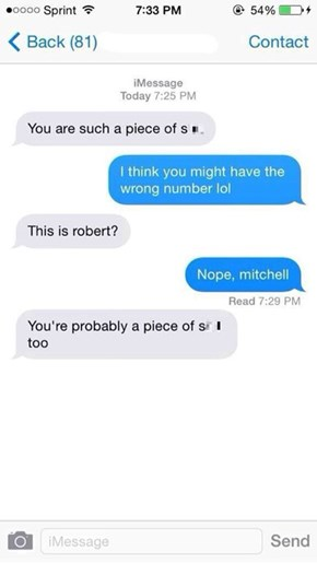 "The Old ""Wrong Number Turned Insult"""