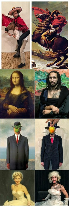 Art of the Day: Coworkers Recreate Paintings with Objects in Office