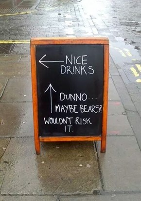 It's Too Risky Outside, Go for the Booze