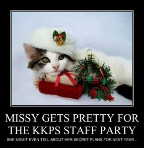 MISSY GETS PRETTY FOR THE KKPS STAFF PARTY