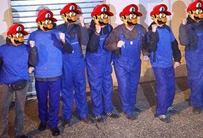 Video Games IRL of the Day: Vigilante Mario Brothers Bring Water to Poor in Italy