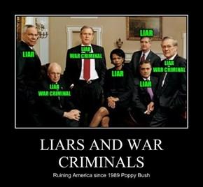 LIARS AND WAR CRIMINALS