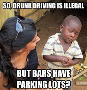 Why do bars have parking lots?