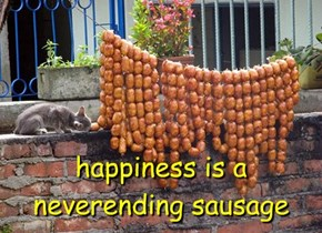 happiness is a  neverending sausage