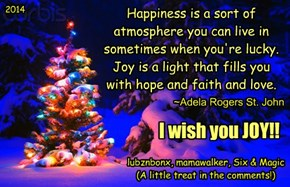 A Very Merry Christmas To All!!