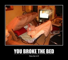 YOU BROKE THE BED