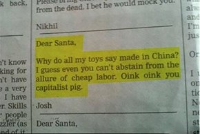 Santa Has a Very Troubling Relationship With Tax and Tariff Policy