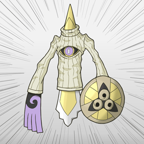 Aegislash is Rocking That Keyhole Turtleneck