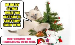 DIS IDS MY CATMAS TWREE, YOU CANT HABZ ID. SANTY PAWS GAB ID TO ME.
