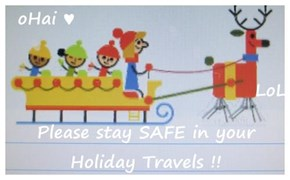 oHai ♥                                     LoL Please stay SAFE in your Holiday Travels !!